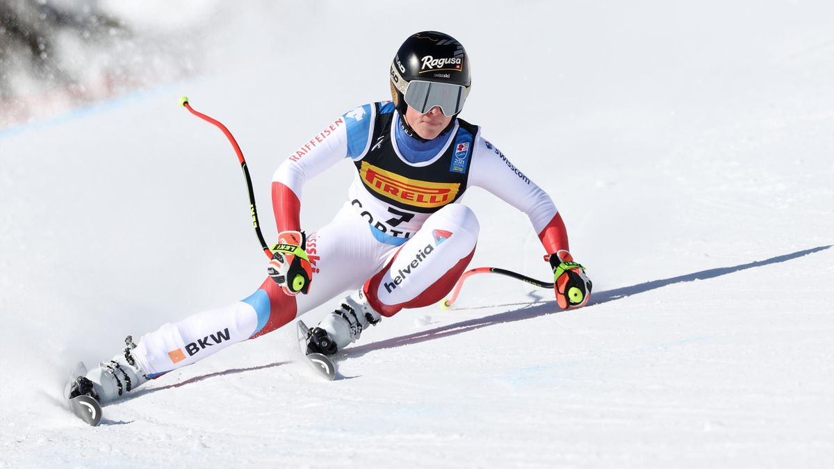 Lara Gut-Behrami gewinnt das Super-G-Rennen der Frauen bei der alpinen Ski-WM