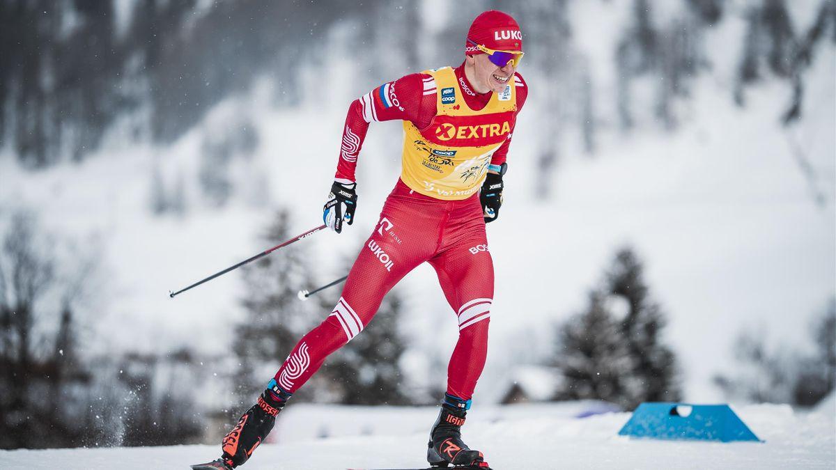 Alexander Bolshunov (Russland) bei der Tour de Ski