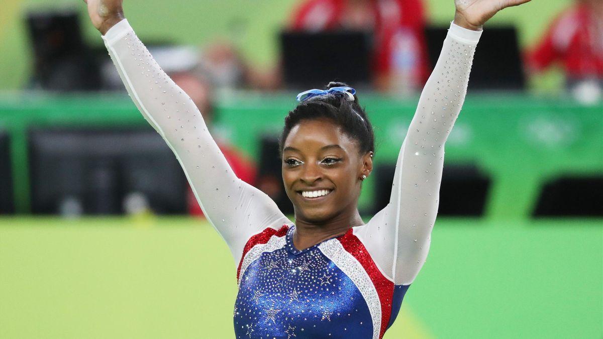 Simone Biles, campeona olímpica de gimnasia, Río 2016