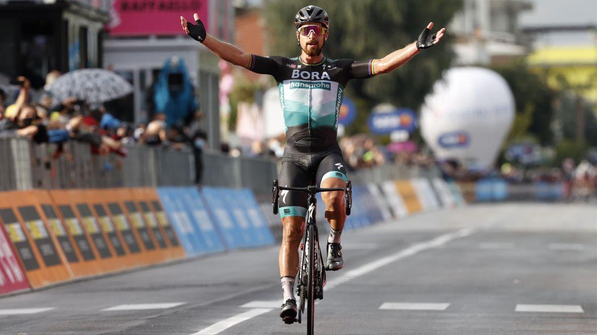 Peter Sagan (Bora-Hansgrohe), vainqueur en solitaire d'une superbe 10e étape du Giro 2020