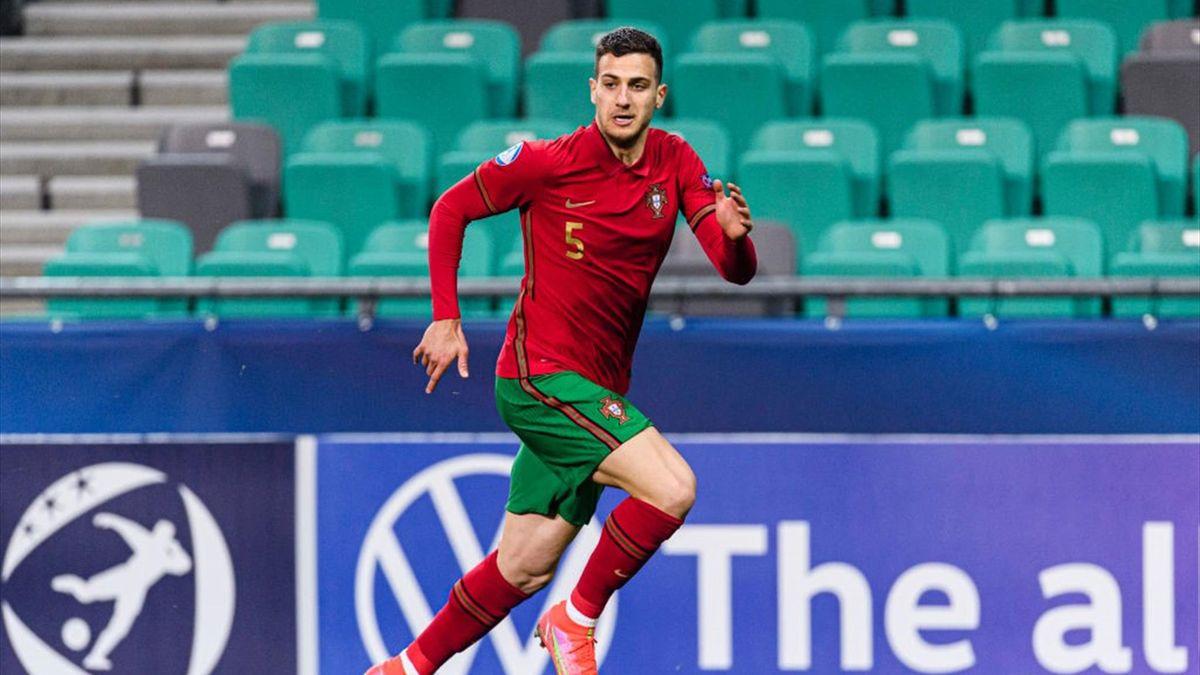 Diogo Dalot con la maglia del Portogallo agli Europei Under 21 2021