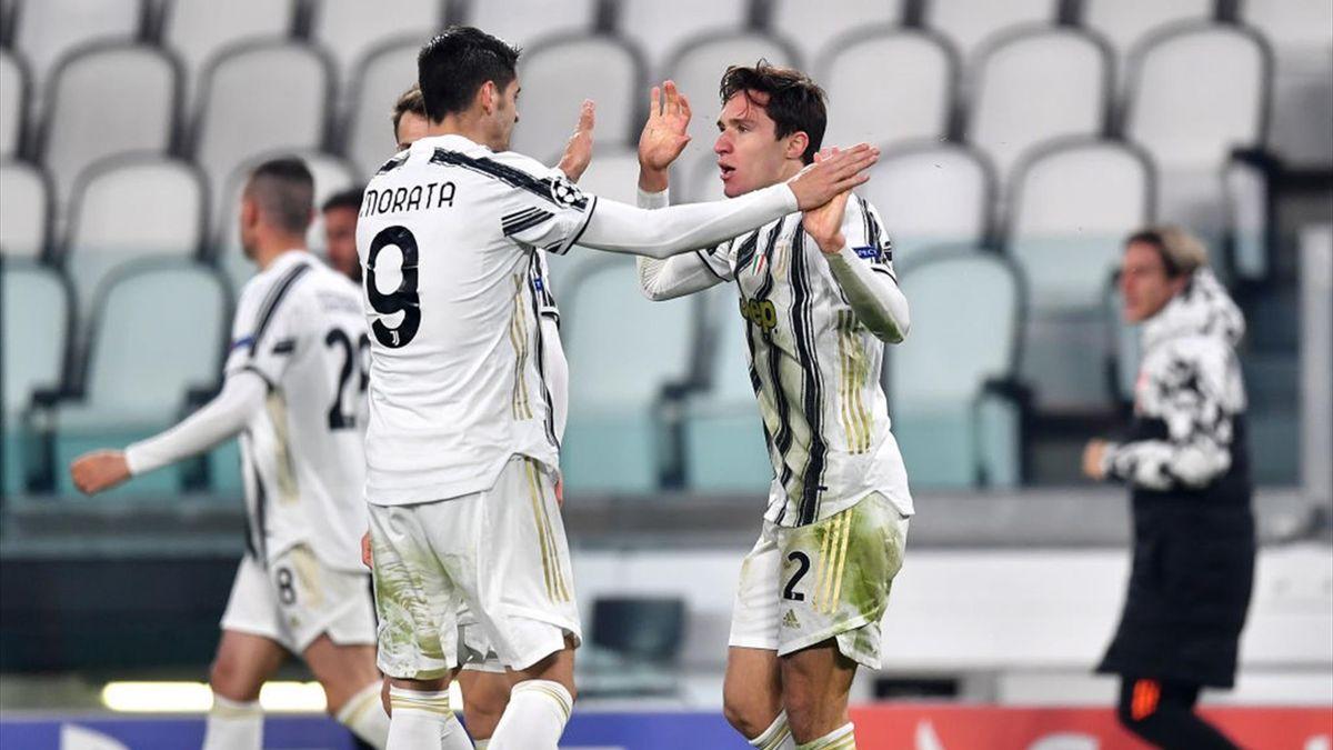 Chiesa esulta durante Juventus-Porto - Champions League 2020/2021 - Getty Images