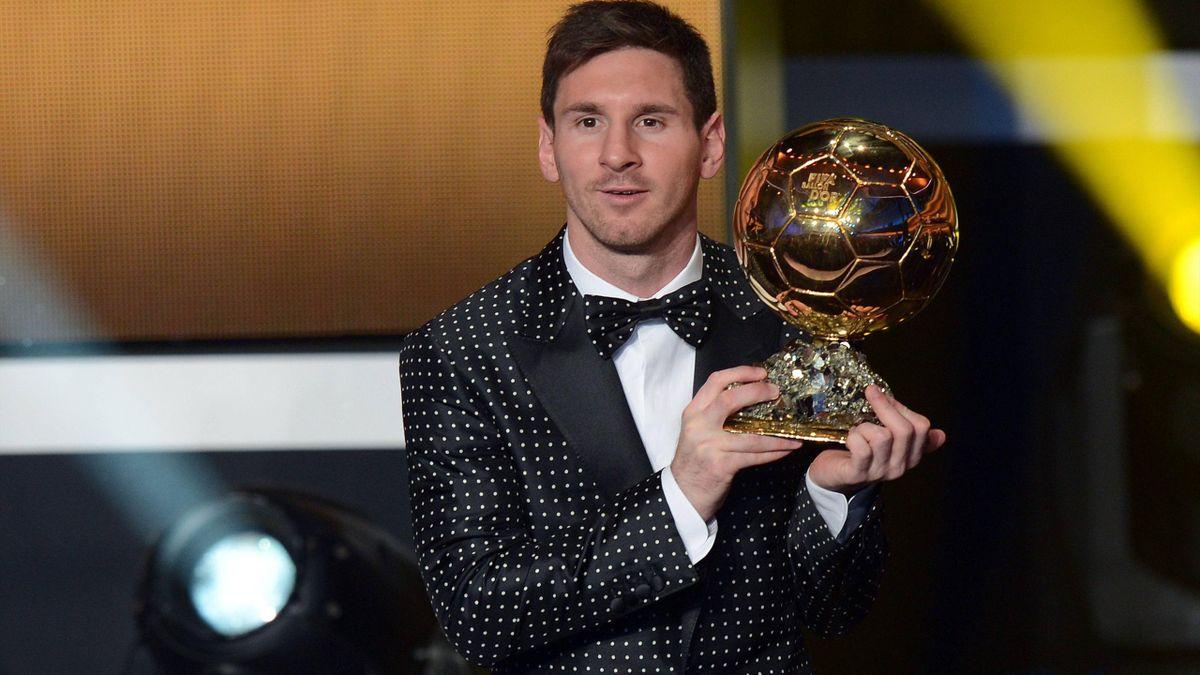 Leo Messi con el Balón de Oro
