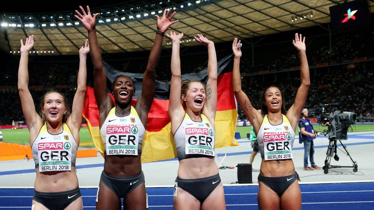 Die deutsche Frauen-Staffel um Gina Lückenkemper