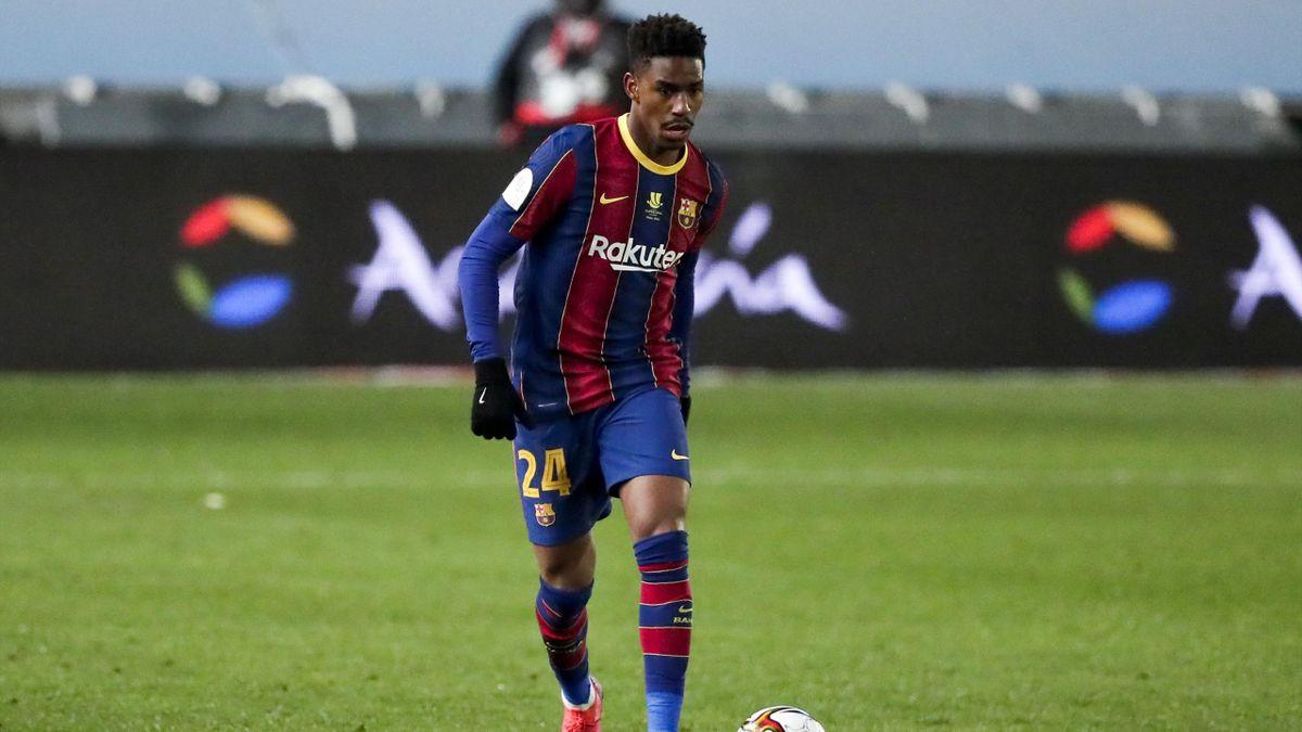 Junior Firpo (Barcellona) durante il match di Supercoppa spagnola contro la Real Sociedad, gennaio 2021 (Getty Images)