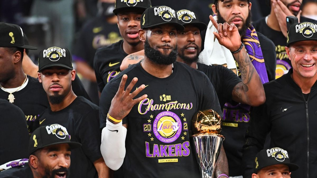 LeBron James après le titre des Lakers, son 4e titre NBA