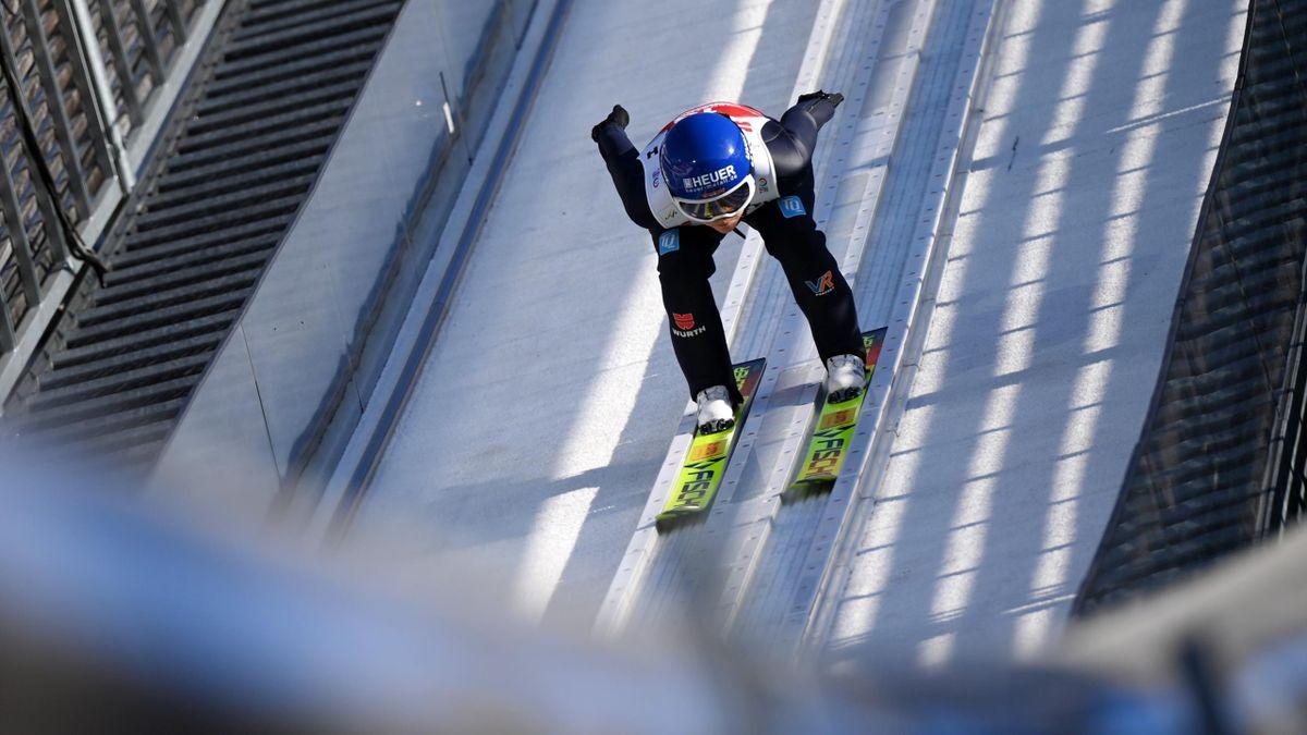 Carina Vogt bei der Skisprung-WM in Oberstdorf