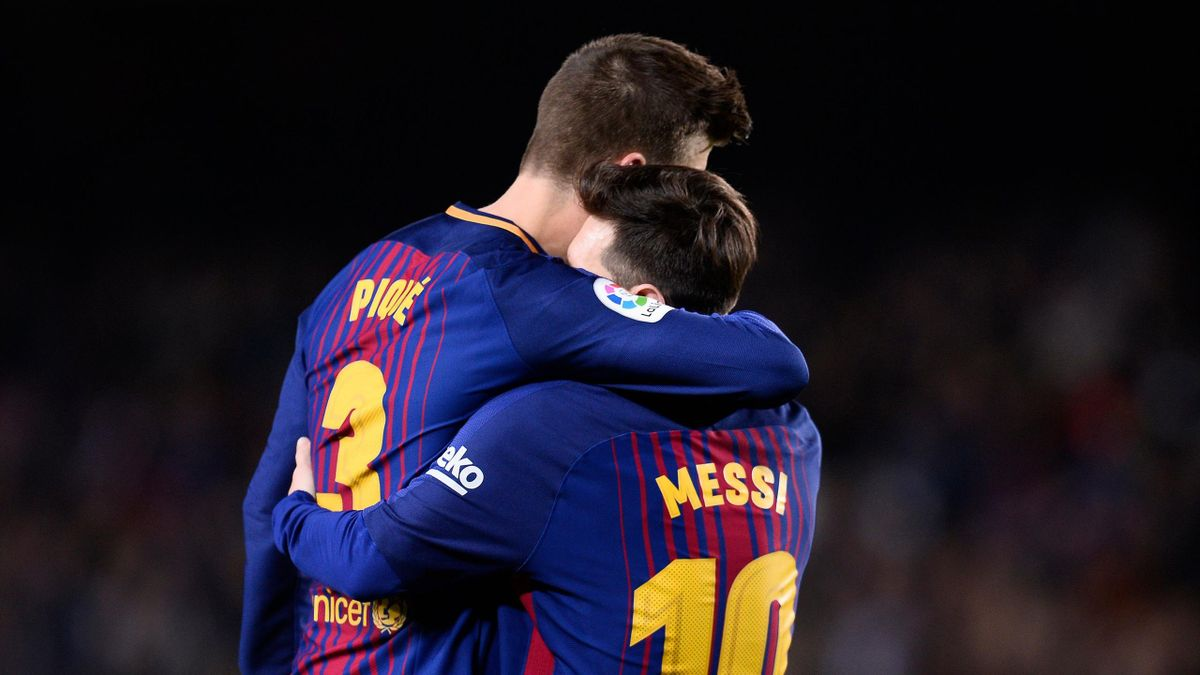 Pique and Messi