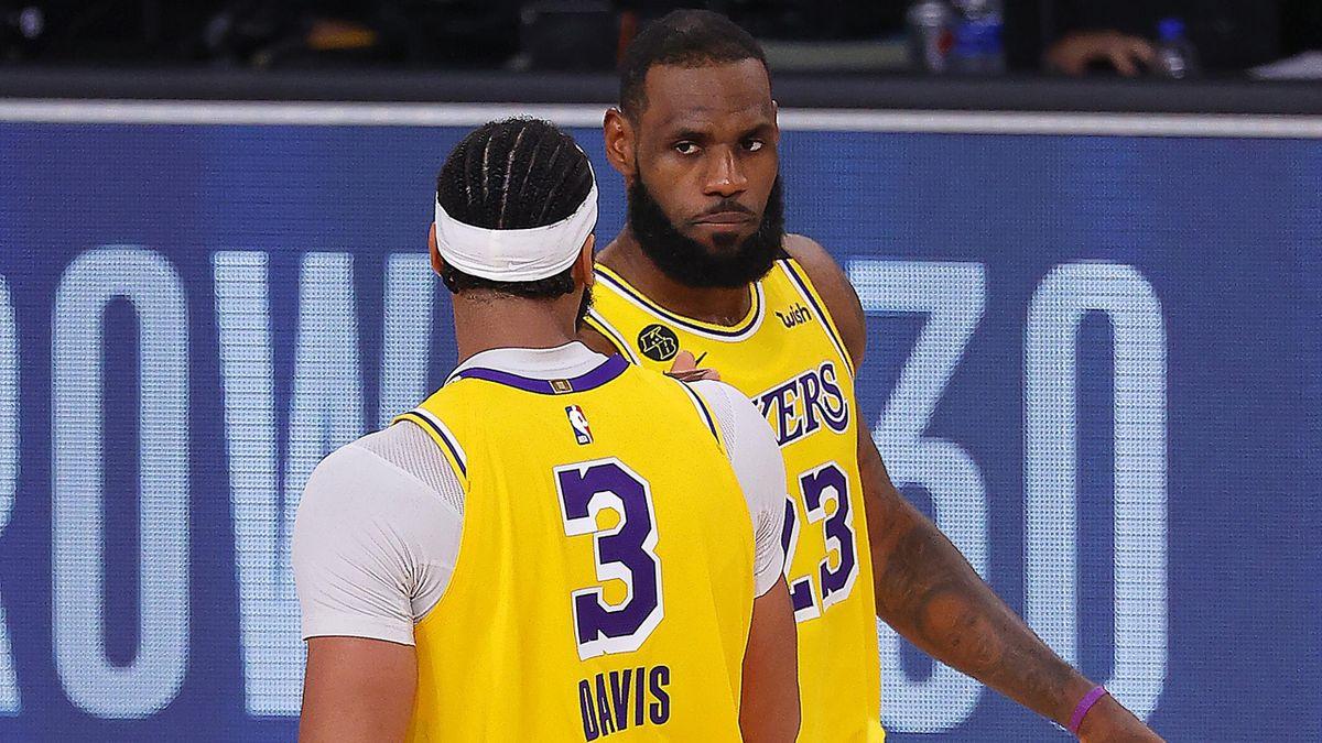 LeBron James et Anthony Davis avec les Lakers en playoffs 2020