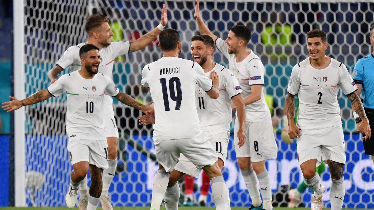 Esultanza Italia, Turchia-Italia, Euro 2020, Getty Images