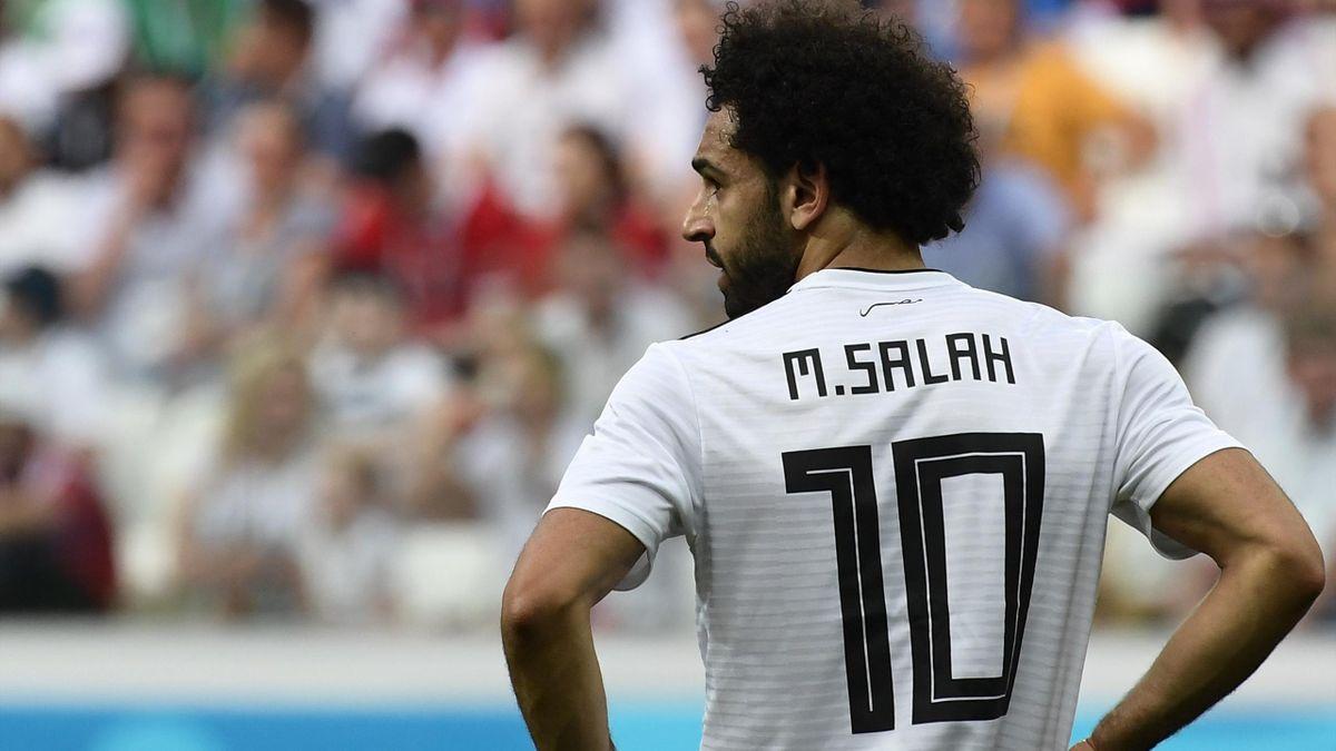 Mohamed Salah lors de Arabie saoudite - Egypte lors de la Coupe du monde 2018