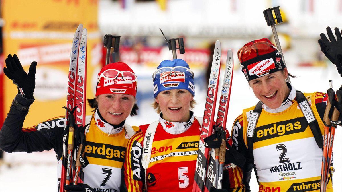 Andrea Henkel, Martina Glagow und Uschi Disl 2006