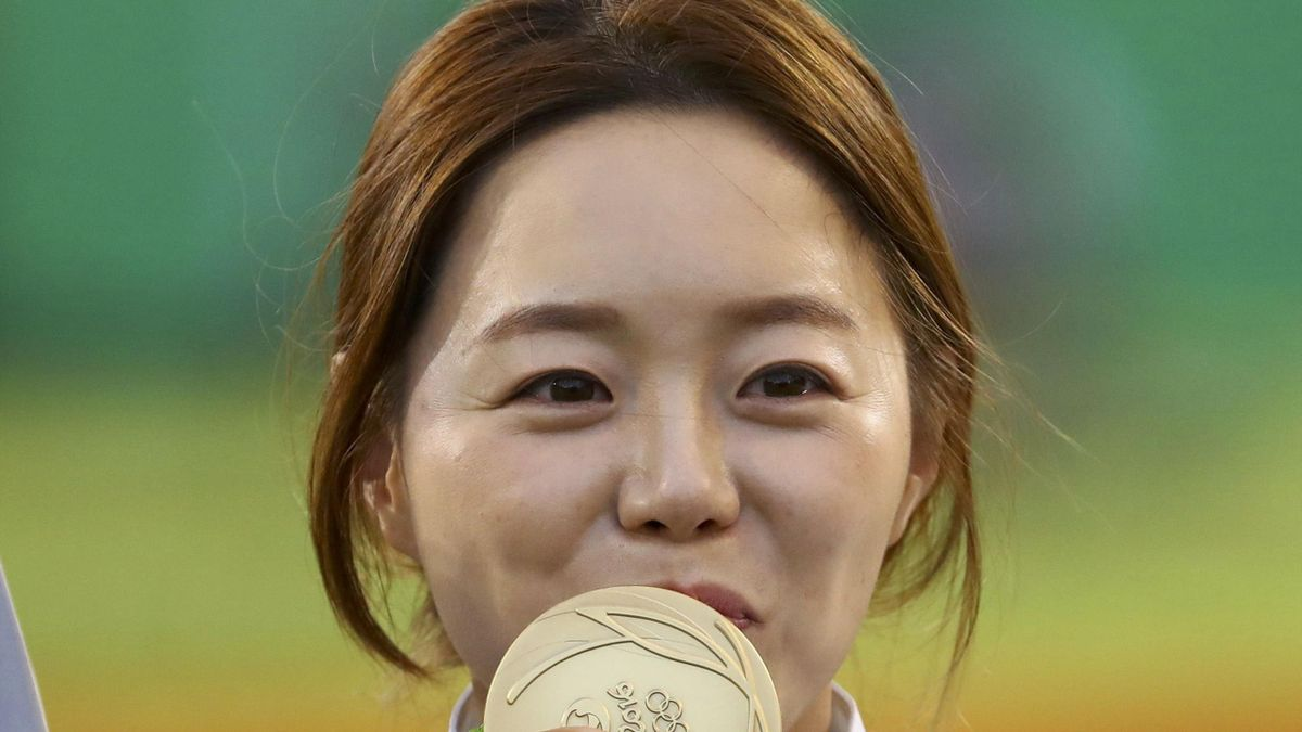 Chang Hye-Jin wins gold at the Rio Olympics in the individual archery event
