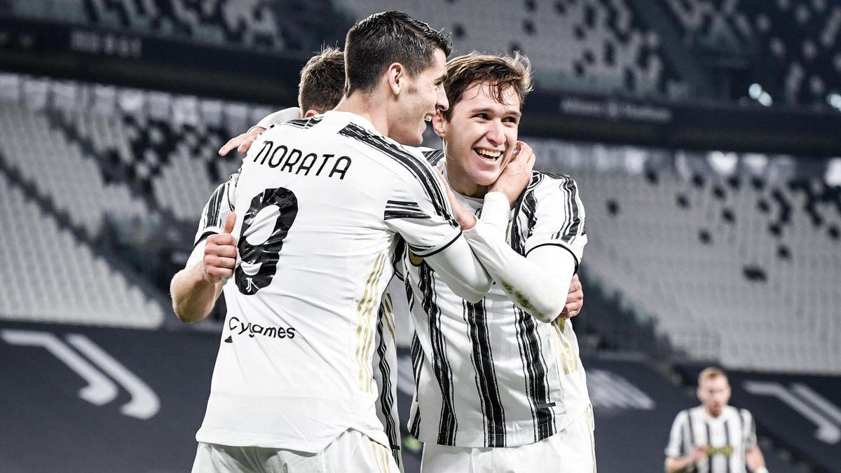 I sorrisi di Federico Chiesa ed Alvaro Morata: le migliori notizie per Pirlo in vista dell'impegno decisivo contro la Lazio, Getty Images