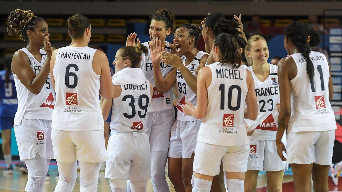 La joie des Françaises, qualifiées pour les demi-finales de l'Eurobasket - 23/06/2021