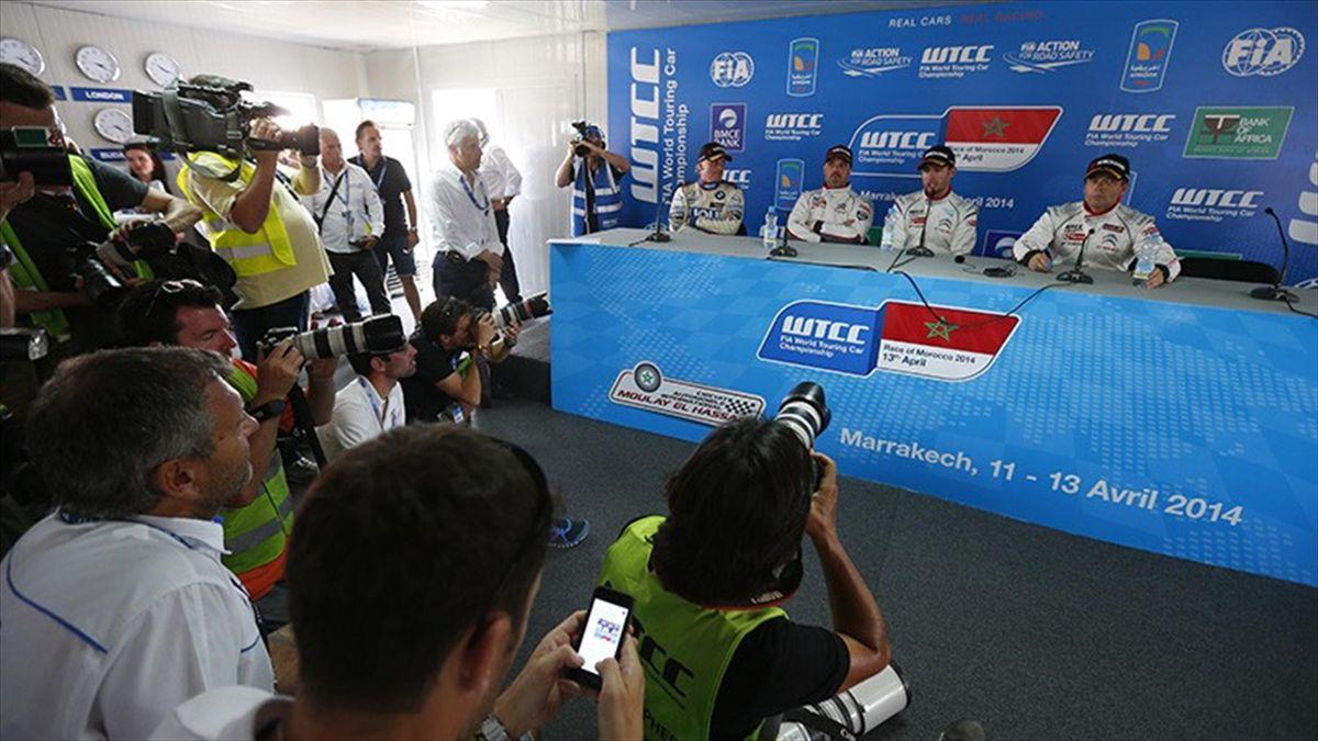 Rueda de prensa de la WTCC en Marrakech