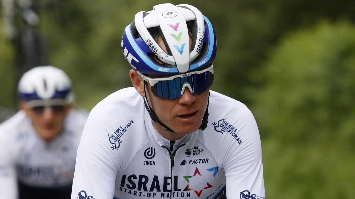 Chris Froome im Training in Brest
