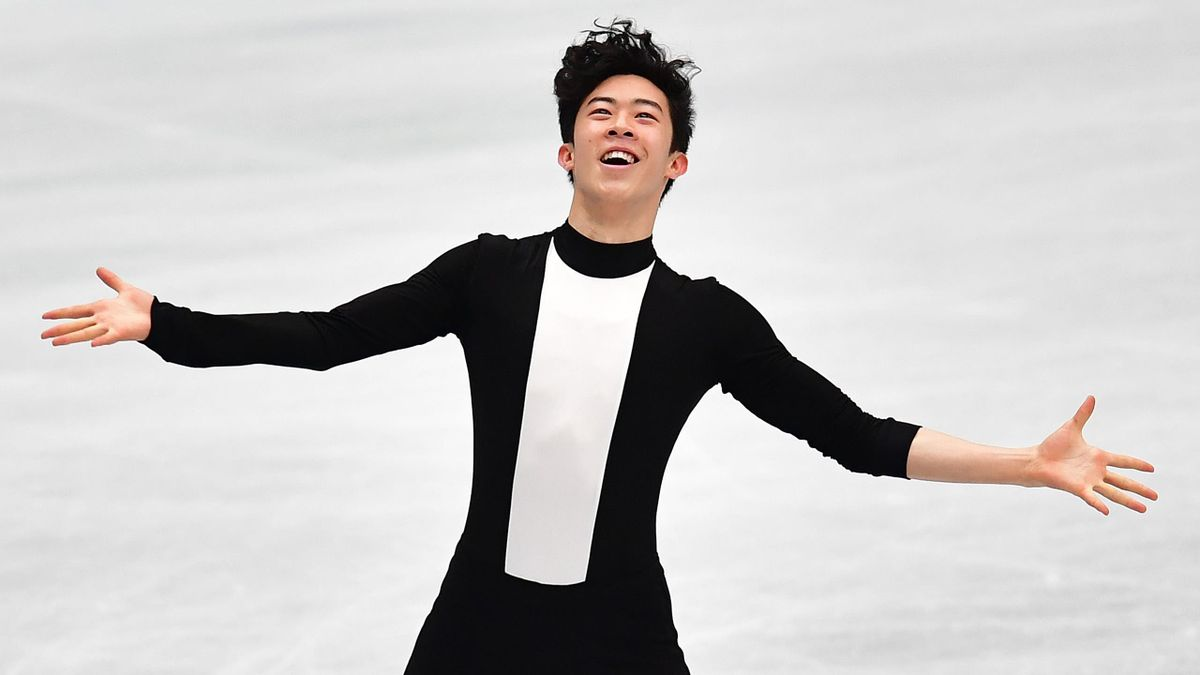 Nathan Chen of the USA competes in the Men short program during day 2 of the ISU World Figure Skating Championships 2019 at Saitama Super Arena on March 21, 2019 in Saitama, Japan