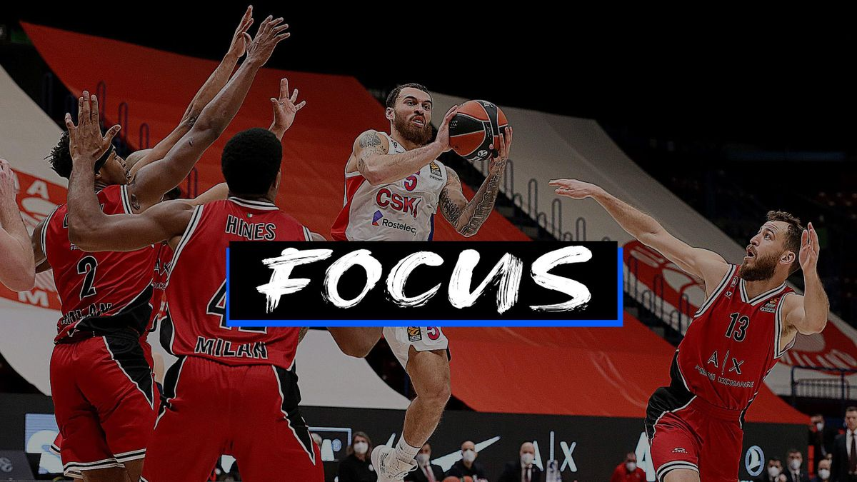 Mike James, #5 of CSKA Moscow in action during the 2020/2021 Turkish Airlines EuroLeague Regular Season Round 17 match between AX Armani Exchange Milan and CSKA Moscow at Mediolanum Forum on December 30, 2020 in Milan