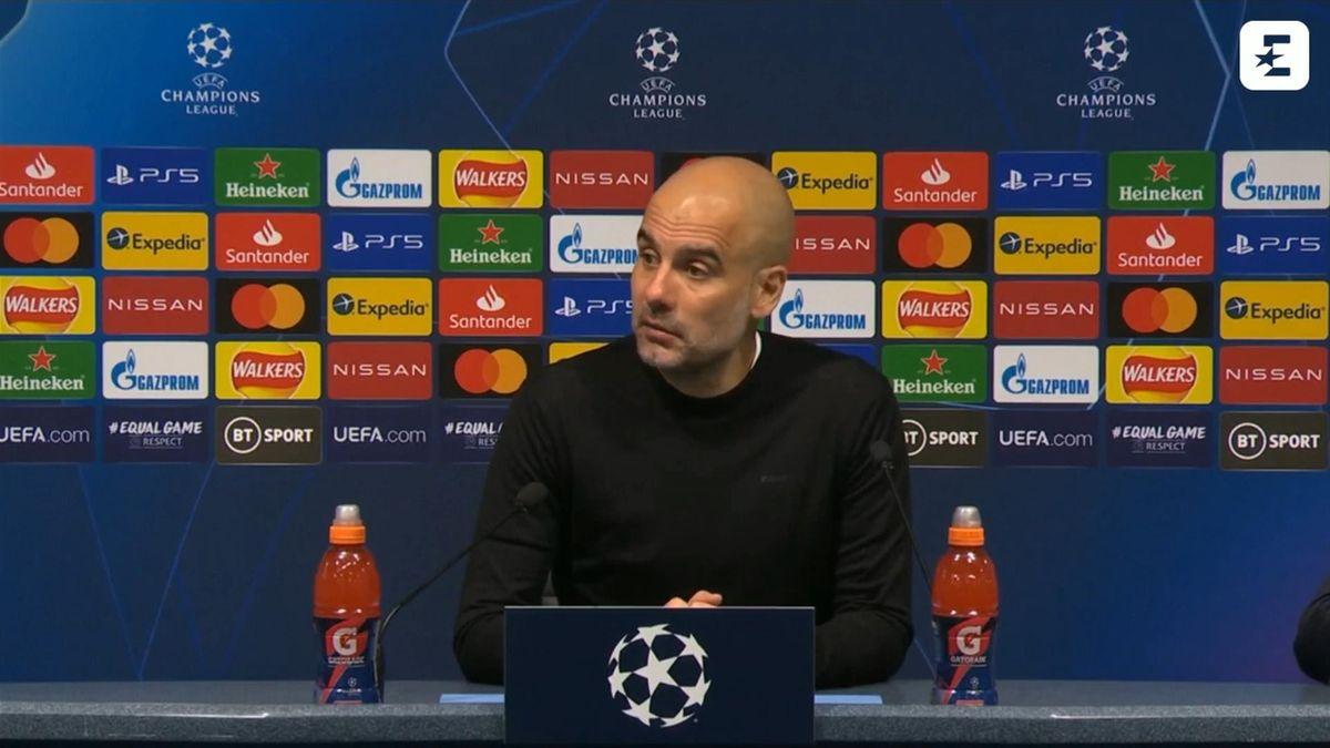 Pep Guardiola, Champions League press conference