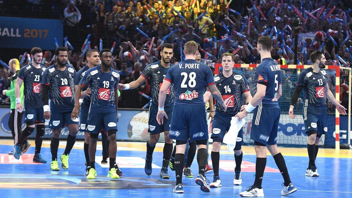 Jugadores de la selección de Francia de Balonmano en la final del Mundial 2017