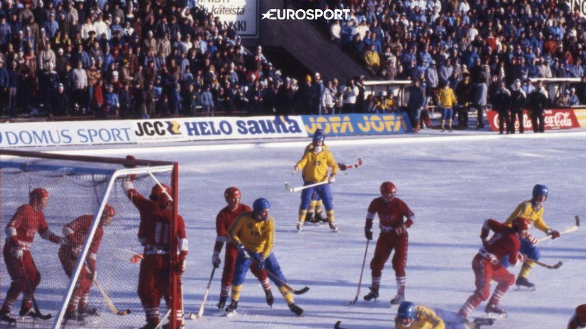 Чемпионат мира по хоккею с мячом. СССР - Швеция