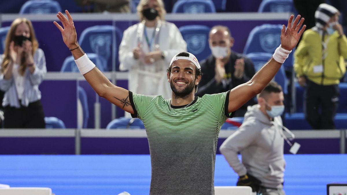 Il sorriso di Matteo Berrettini per il successo all'ATP di Belgrado