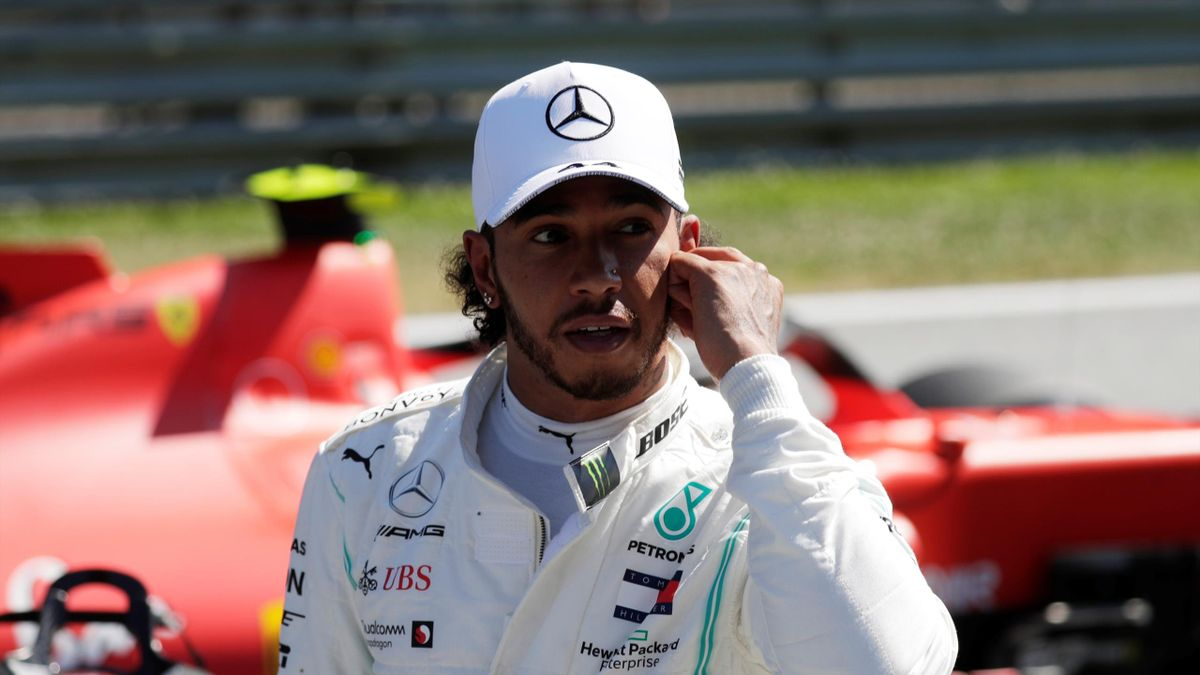 Austrian Grand Prix - Red Bull Ring, Spielberg, Austria - June 29, 2019 Mercedes' Lewis Hamilton after qualifying in second position