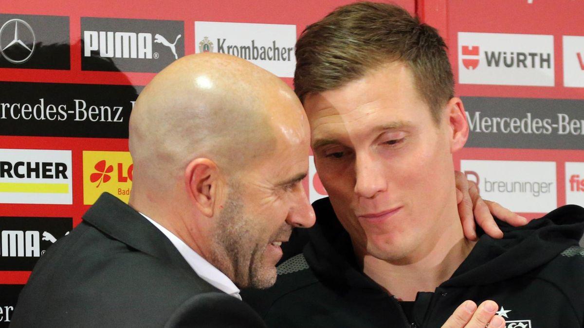 Peter Bosz (l.) mit Nachfolger Hannes Wolf