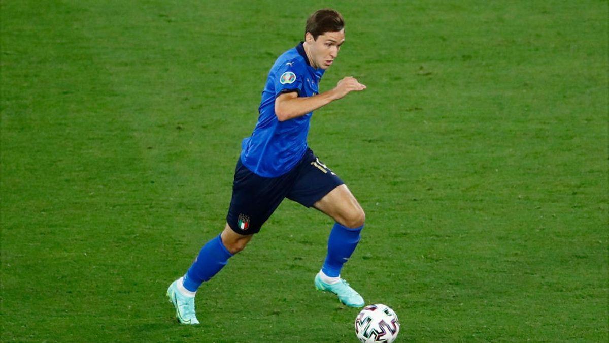 Federico Chiesa durante Italia-Svizzera - Euro 2020