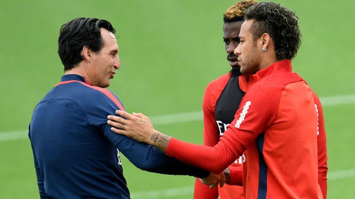 Neymar et Unai Emery
