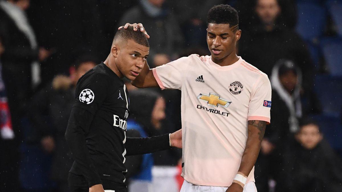 Kylian Mbappé (PSG) et Marcus Rashford (Manchester United) vont se retrouver en Ligue des champions
