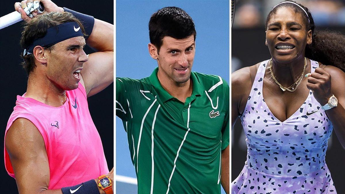 Rafael Nadal, Novak Djokovic și Serena Williams