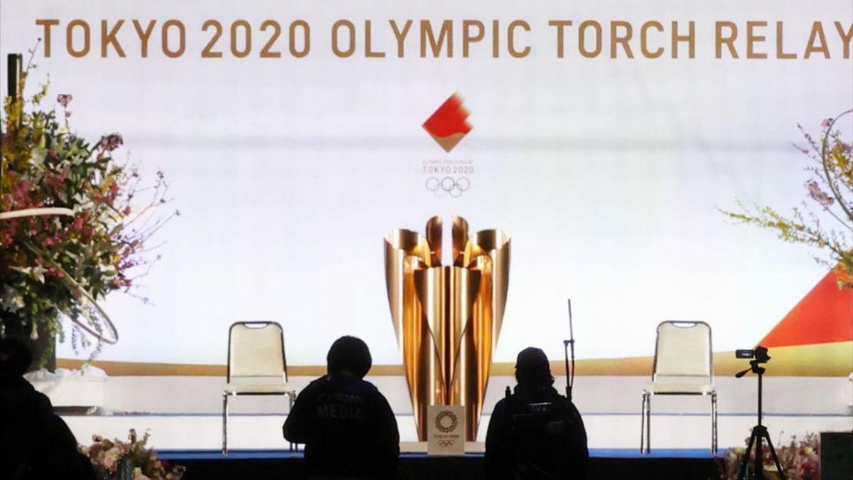La fiaccola olimpica di Tokyo 2020