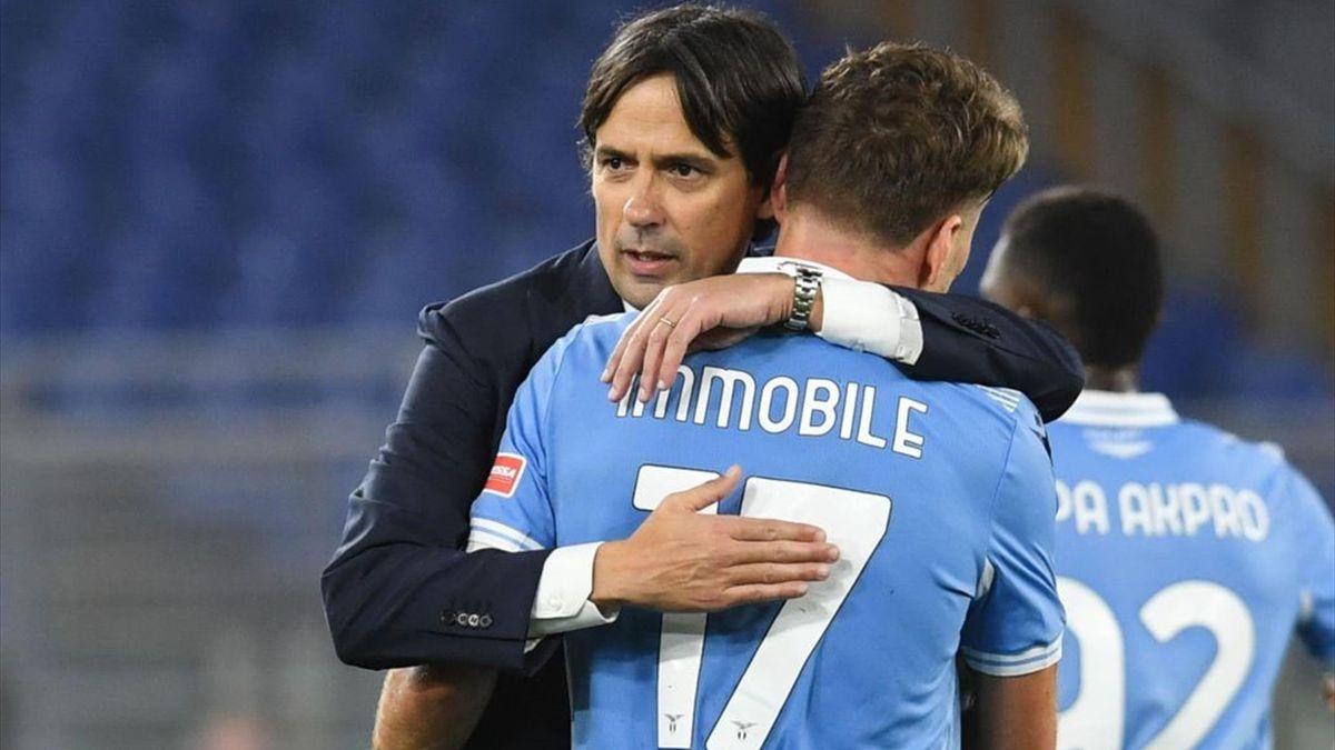 Simone Inzaghi, Immobile - Lazio-Cagliari - Serie A 2020/2021 - Getty Images
