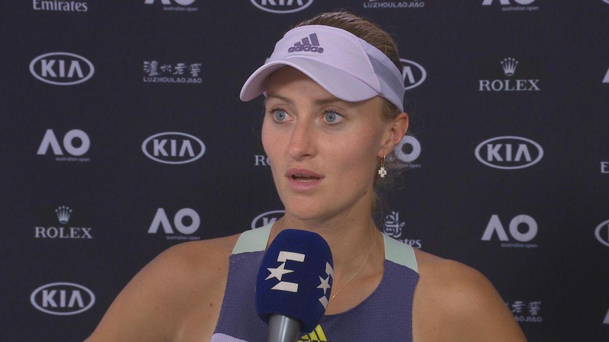 Australian Open - Flash Interview Kristina MLADENOVIC (in French)