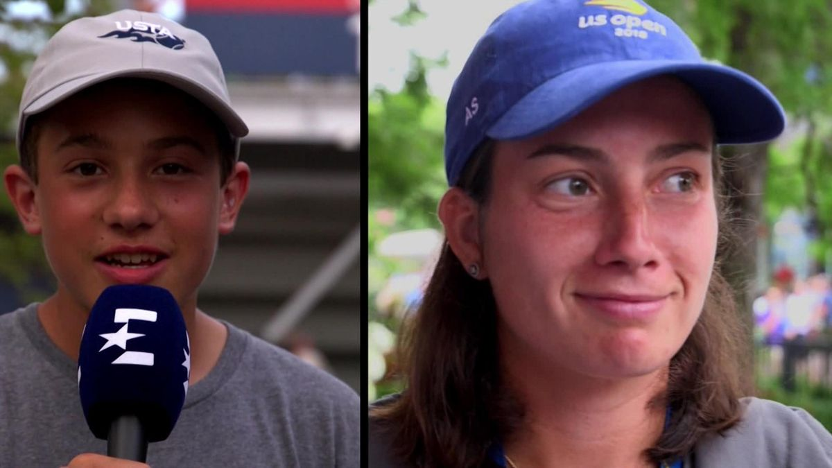 US Open : Sevastova answers kids questions