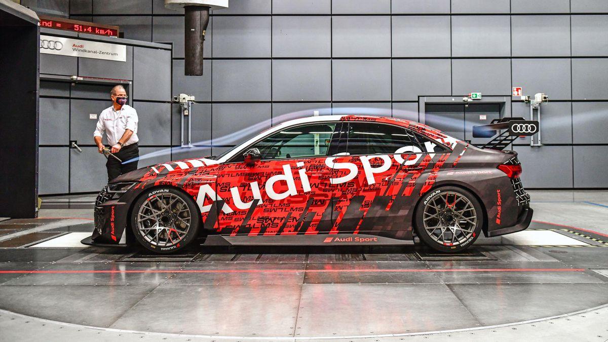 Audi RS 3 LMS TCR szélcsatorna teszt
