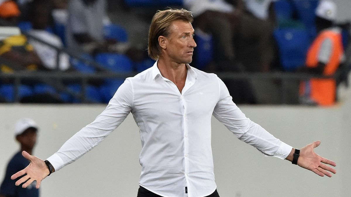 Morocco's French coach Herve Renard reacts during the 2017 Africa Cup of Nations group C football match between Morocco and Ivory Coast in Oyem on January 24, 2017.