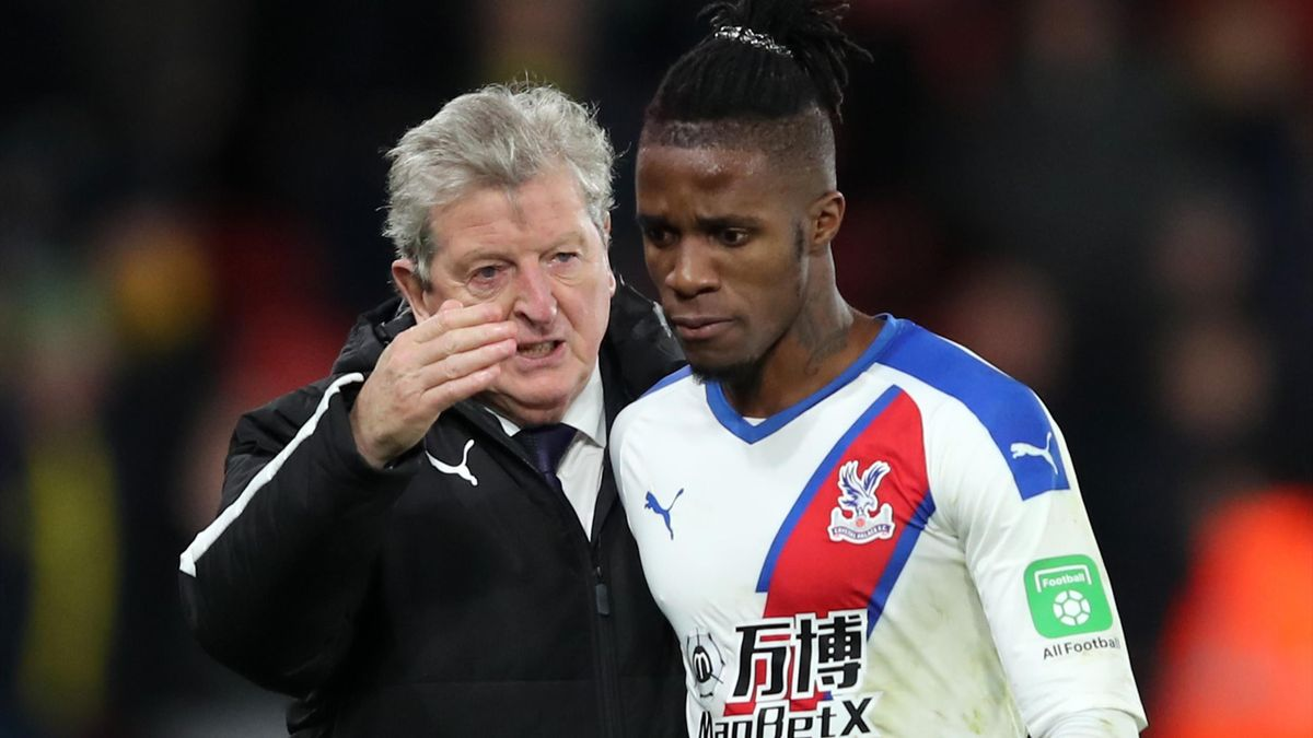 Roy Hodgson with Wilfried Zaha