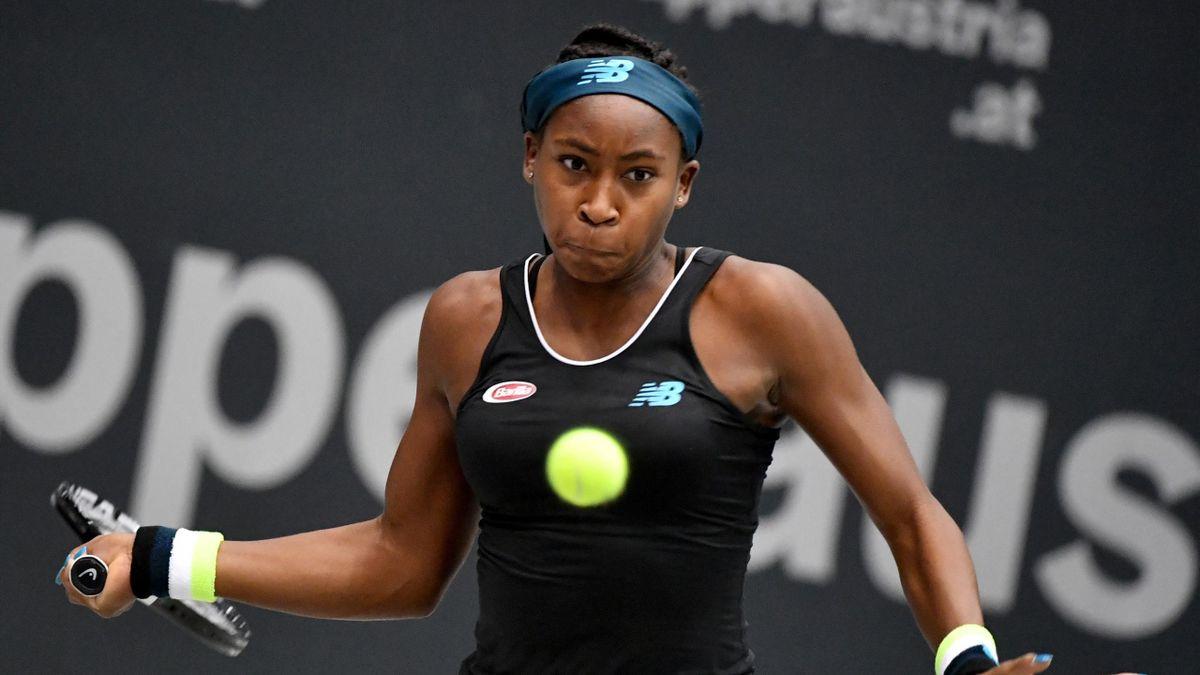 Coco Gauff beim WTA-Turnier in Linz