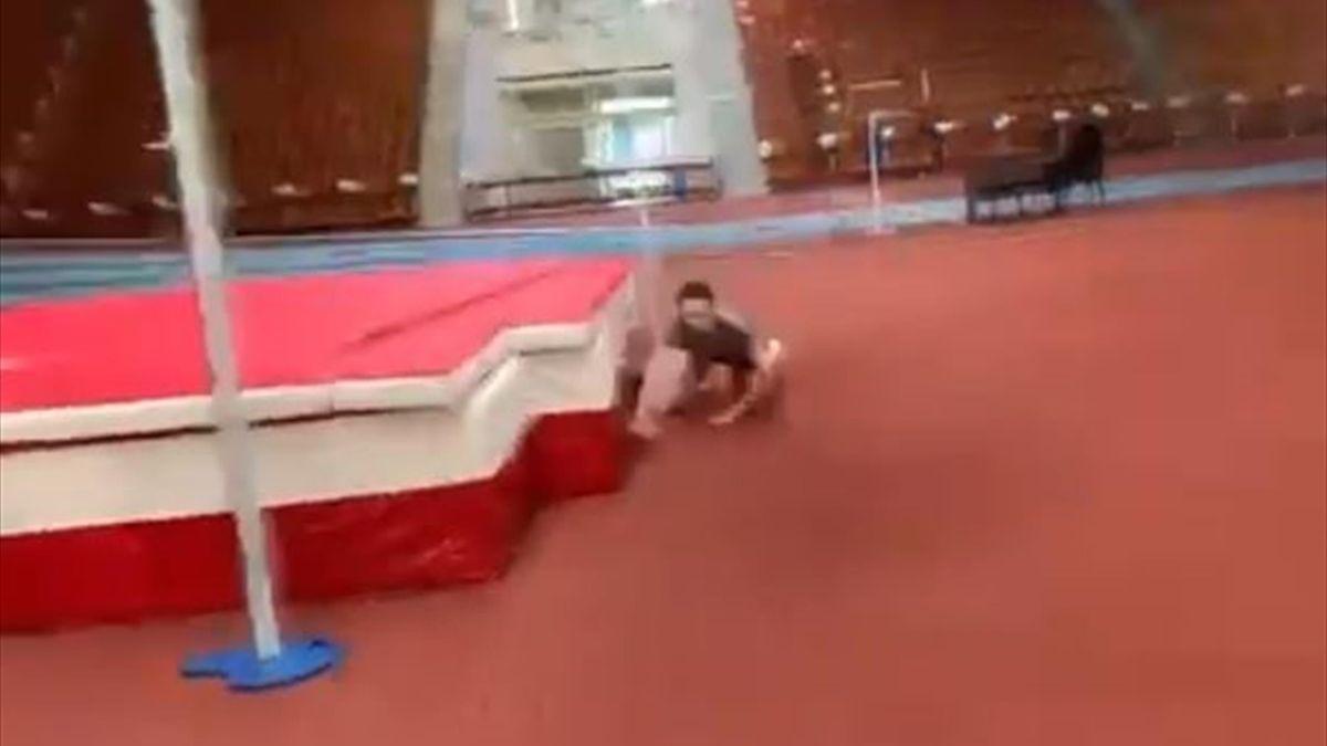 Мария Ласицкене упала на тренировке
