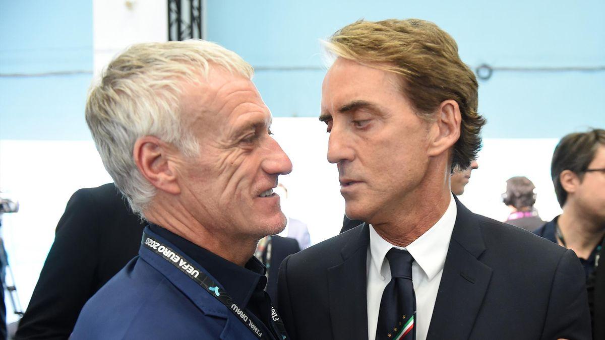 Didier Deschamps e Roberto Mancini