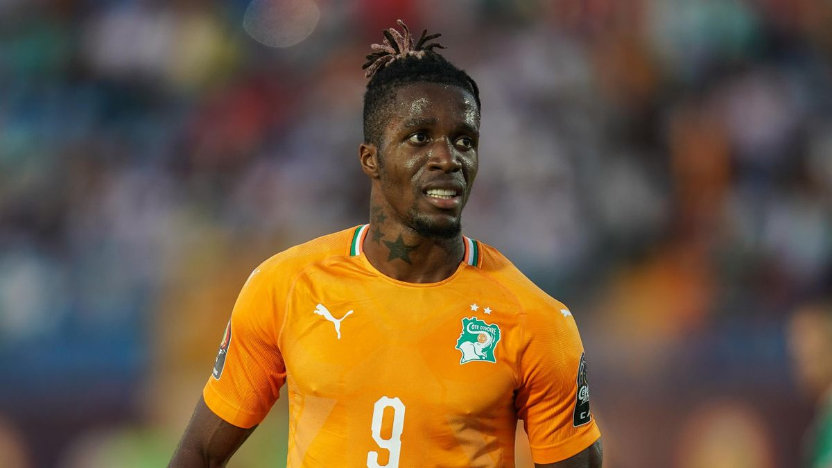 Wilfried Zaha in action for the Ivory Coast