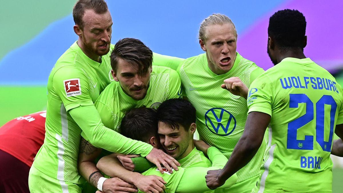 Wolfsburger Torjubel