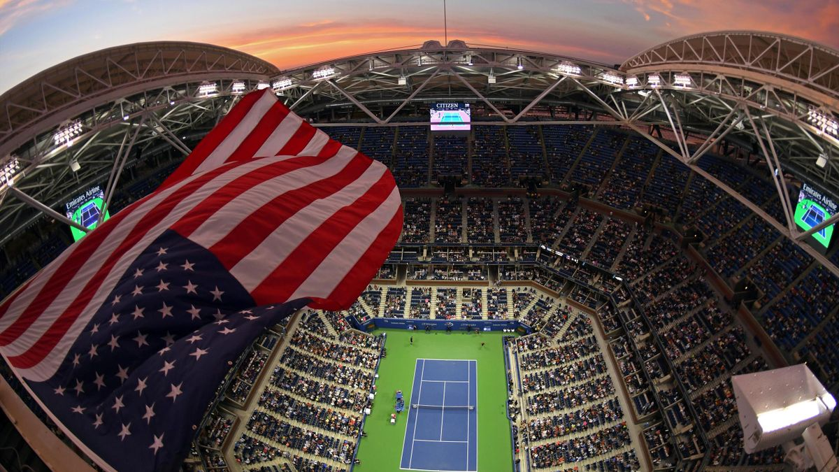 US Open 2016 - General view of the Arthur Ashe Court from above