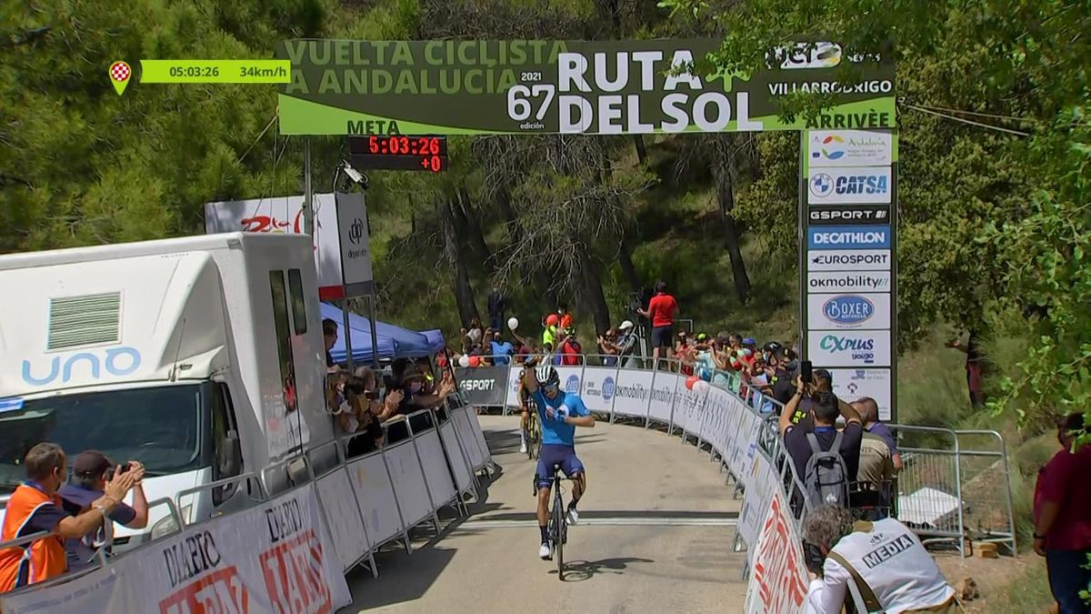 Un sprint parfait pour un premier succès chez Movistar : revivez le succès de Lopez en vidéo