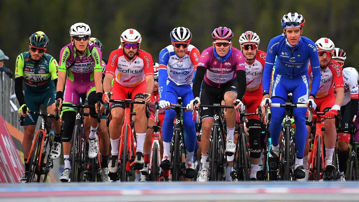 The Gruppetto during the 103rd Giro d'Italia 2020