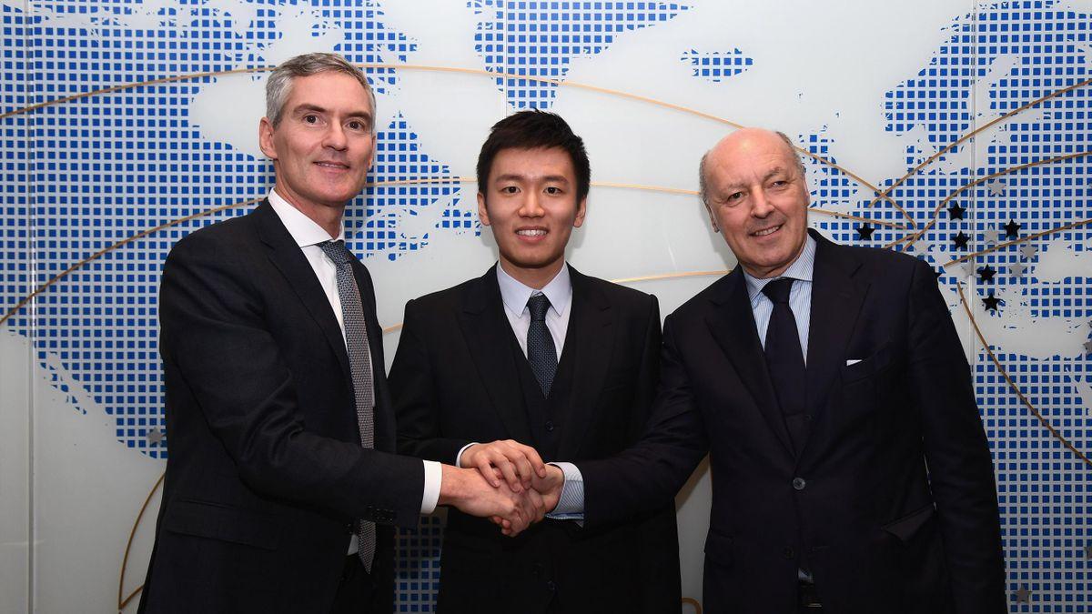 Steven Zhang, Giuseppe Marotta (da ufficio stampa Inter)