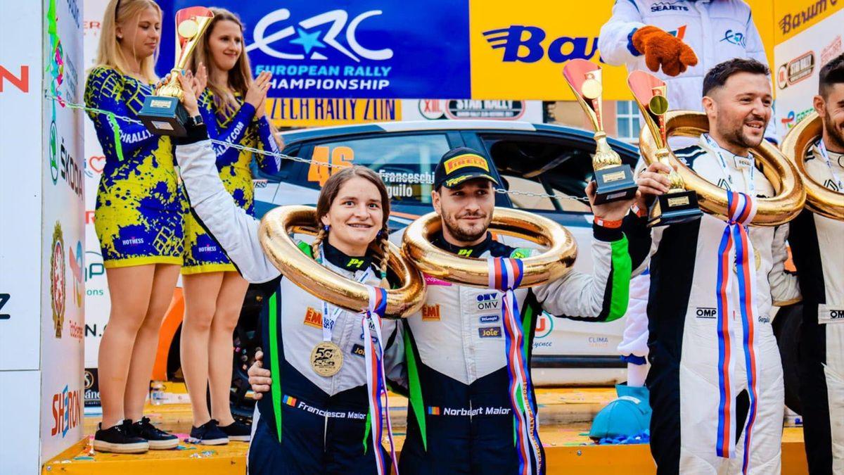 Frații Maior în Campionatul European de Raliuri